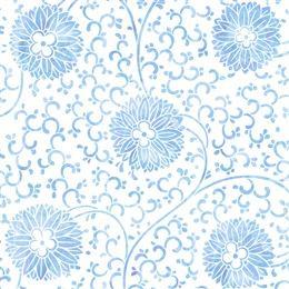 手绘蓝色花卉背景
