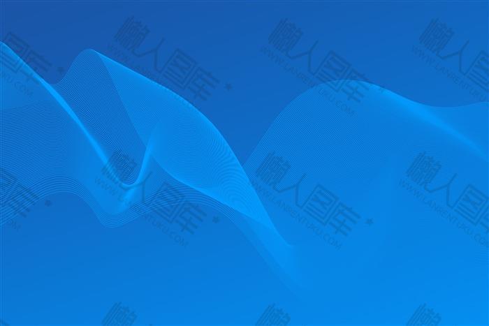 蓝色商务风PPT背景图01