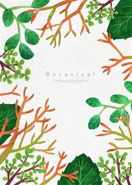 手绘热带植物海报背景