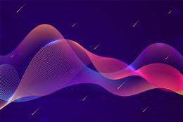 渐变粒子波浪背景