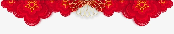 元宵节花纹装饰元素