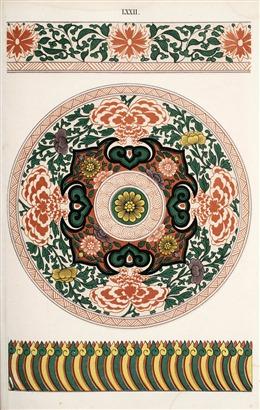 复古中国风花卉纹样