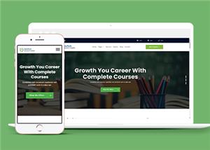 网络课程辅导班教育企业官网模板