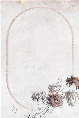 古典花卉海报背景