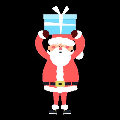 可爱矢量圣诞老人