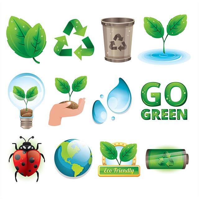 绿色环保符号图标