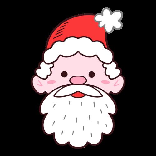圣诞老人简笔画头像