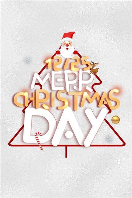 圣诞日字体装饰