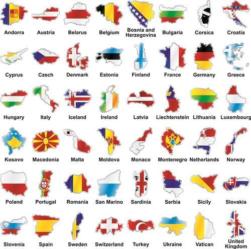 国家标志地图大全