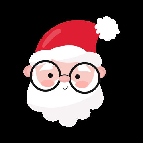 圣诞老人头像可爱图片