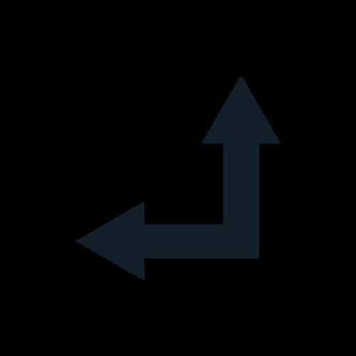 黑色左转直行标志