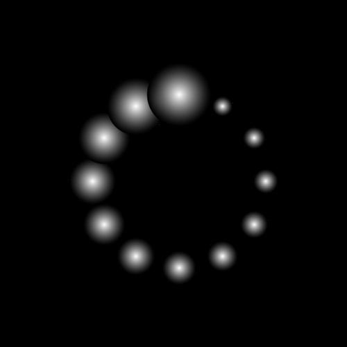 黑色环状光效