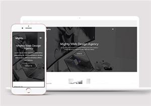 网页设计博客类响应式网站模板