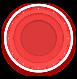 红色圆形边框装饰
