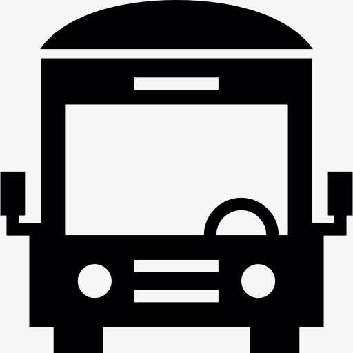 黑色公交车矢量图标