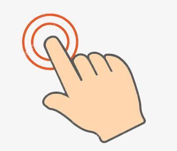 手指点击卡通矢量图标