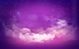 紫色星空壁纸