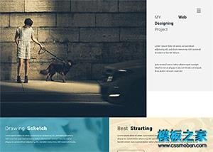 个人作品案例展示网站模板