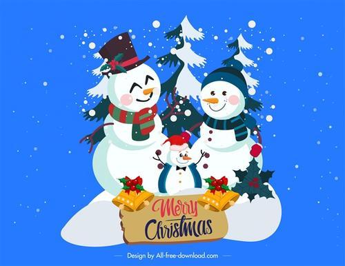 圣诞节雪人矢量图片