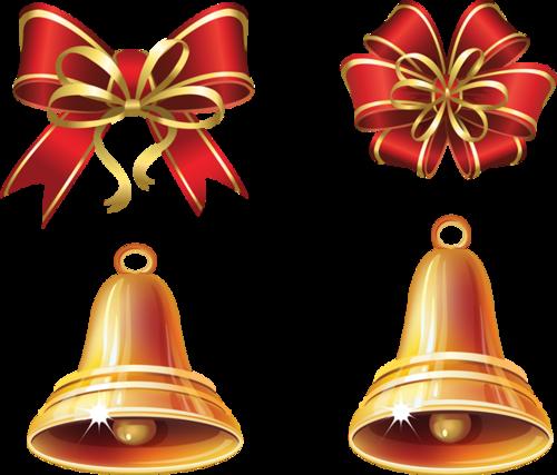 蝴蝶结铃铛圣诞装饰元素