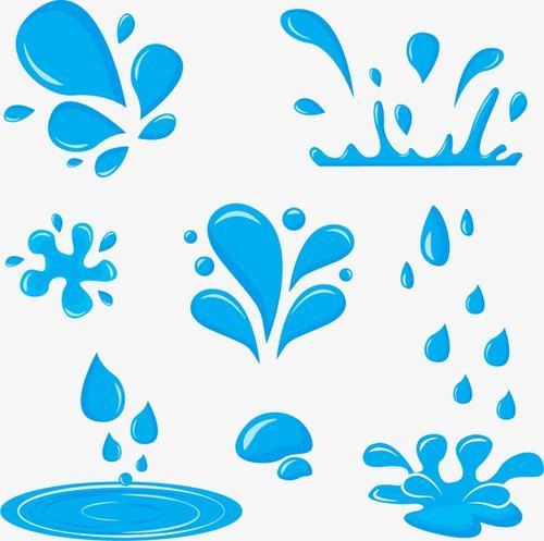 蓝色水滴雨滴元素