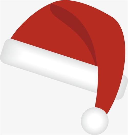 卡通圣诞帽贴纸免抠