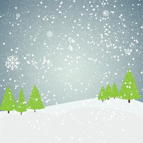 唯美雪花圣诞背景图