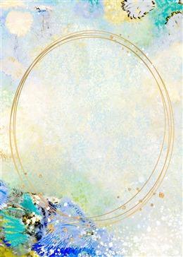 艺术油画边框背景