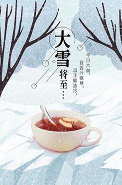 今日大雪祝福海报