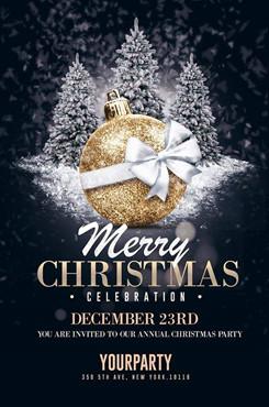 圣诞节创意设计海报