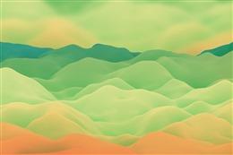 绿色云层背景图