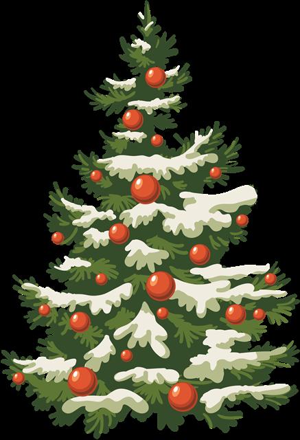 白雪覆盖圣诞树