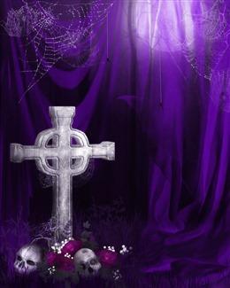 紫色魔幻哥特背景