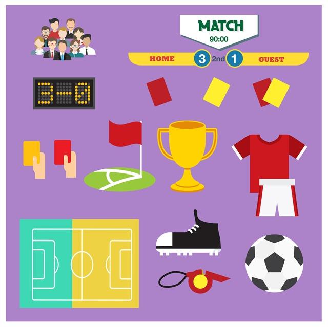 足球运动卡通图标