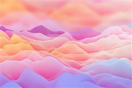 梦幻彩色波浪云层背景图