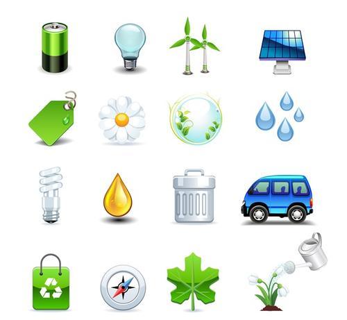 生态能源符号图标集