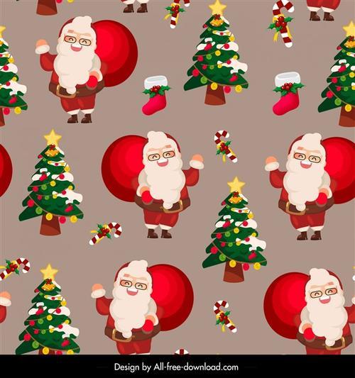圣诞节图案矢量图