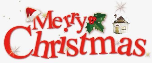 圣诞节艺术字标签