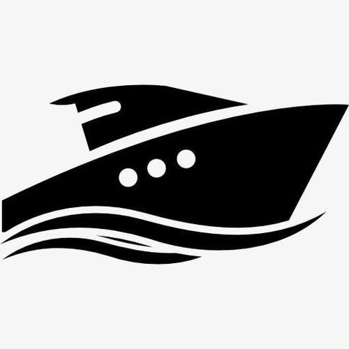 轮船航行运输线性图标