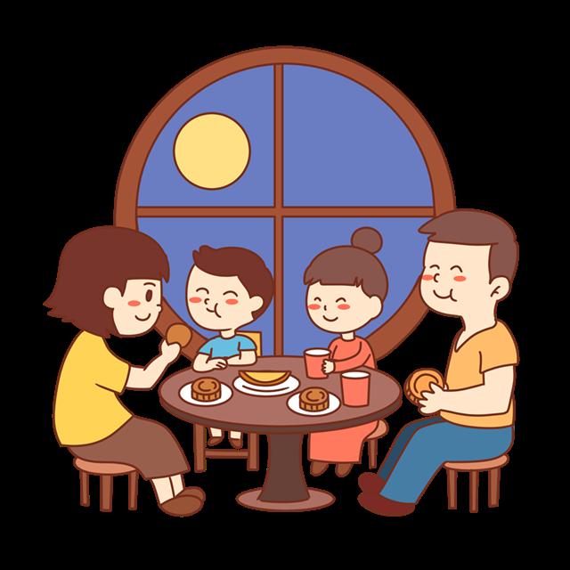 年夜饭卡通插画