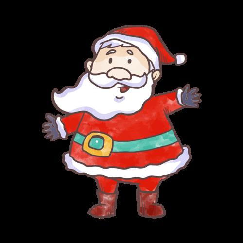 简单画手绘圣诞老人