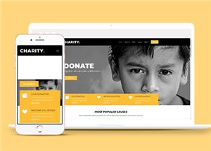扶贫公益慈善机构网站模板