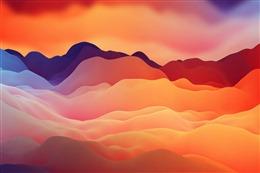 扁平化波浪云层背景图
