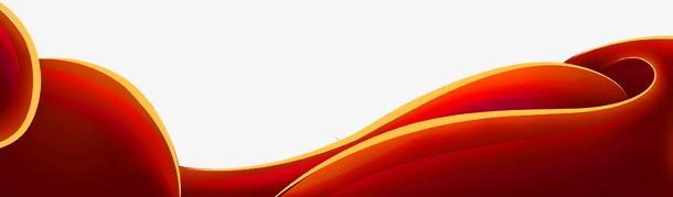 2021新年大红彩带