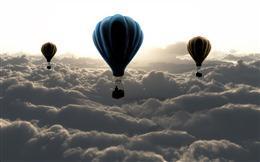 热气球云层背景