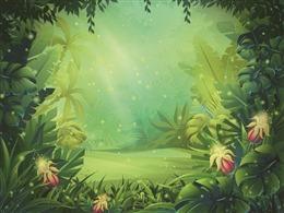 梦幻萤火虫森林背景