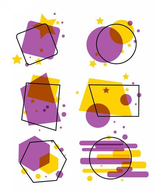 几何图形装饰框架