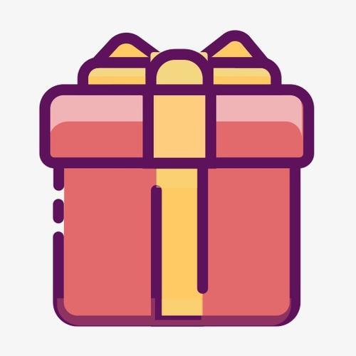 卡通线性礼物盒图标