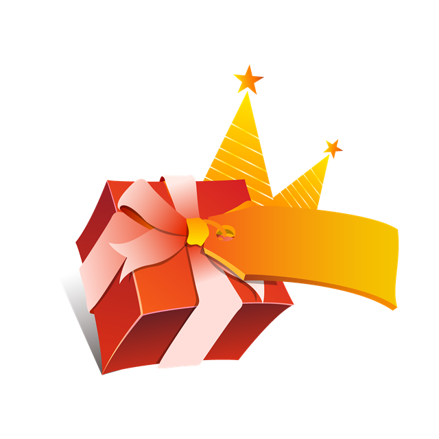 节日促销礼盒矢量图