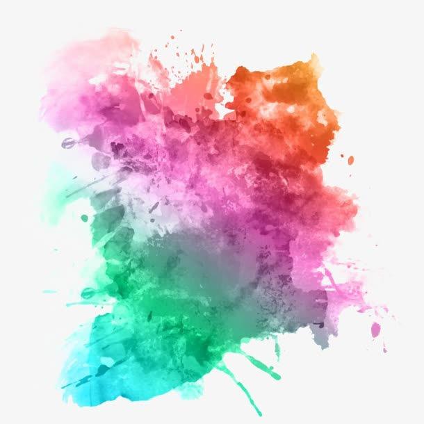 水彩泼墨图片